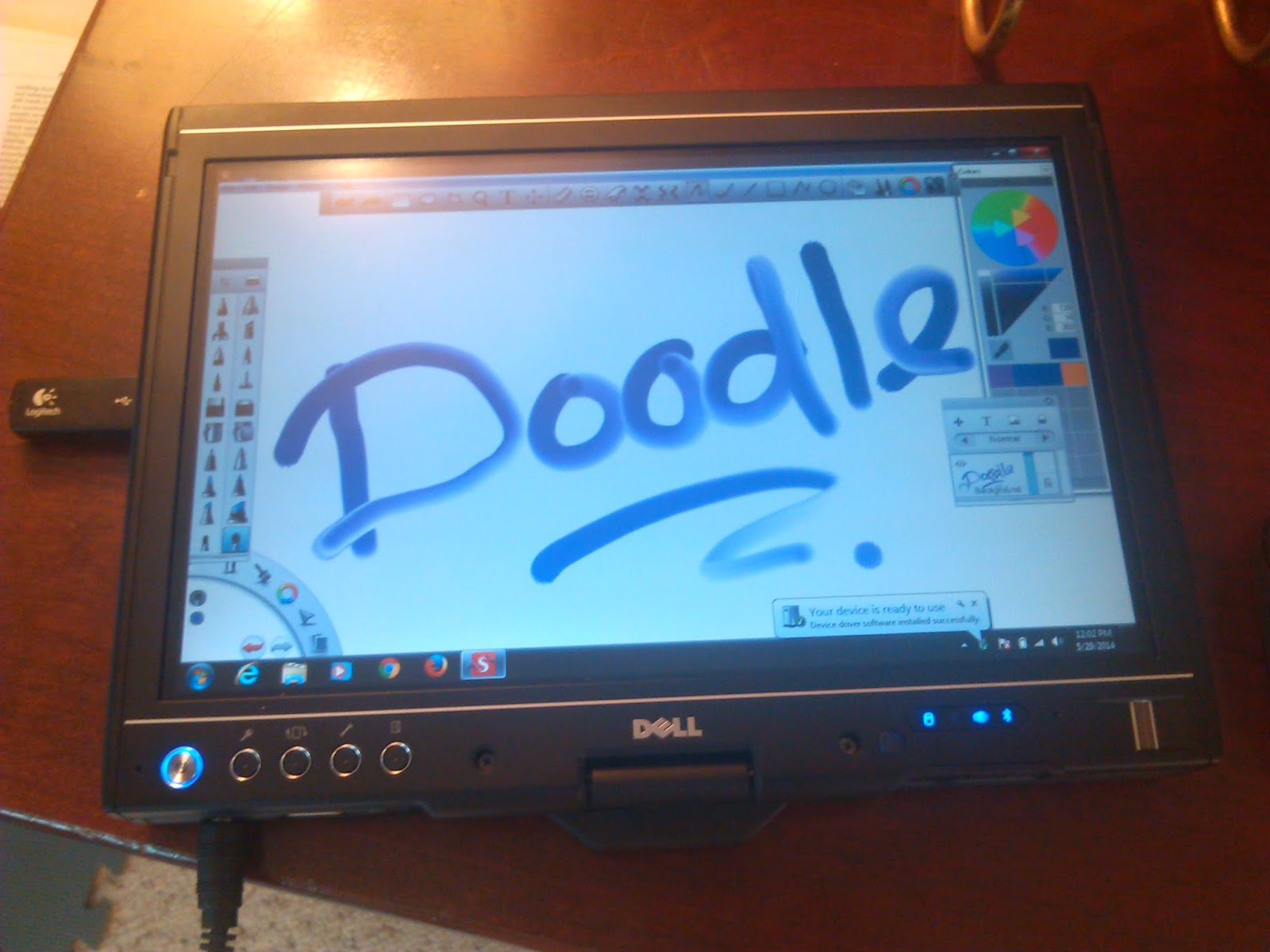 Dell Touch Table for Drawing Illustrations