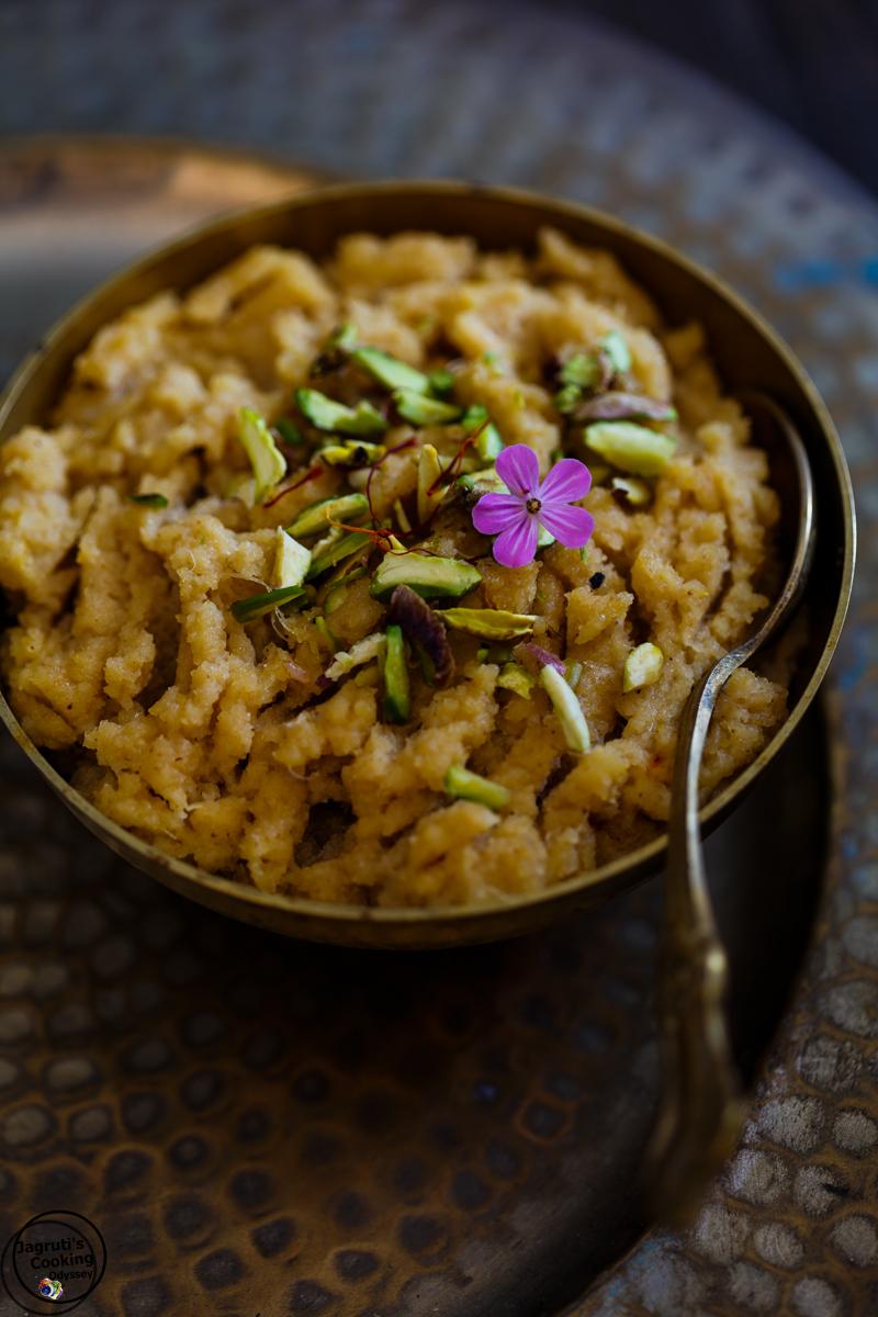 Almond-Coconut-and-Pineapple-halwa-Jagruti's-Cooking-Odyssey