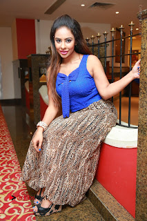 Telugu Actress Srilekha Reddy Latest HD Pos in Sleeveless Blue Top at Muse Art Gallery  0093.JPG