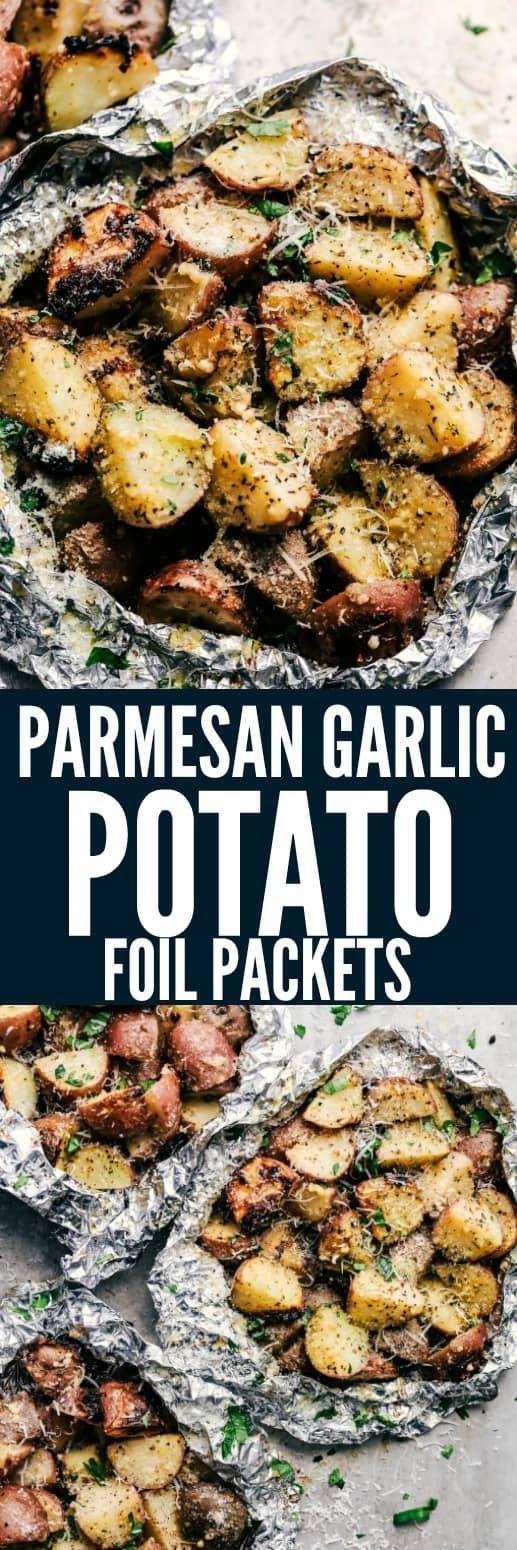 Parmesan Garlic Potato Foil Packets