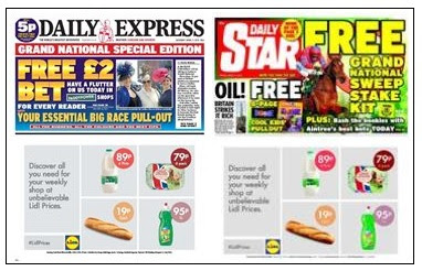 Grand National fronts April 2015