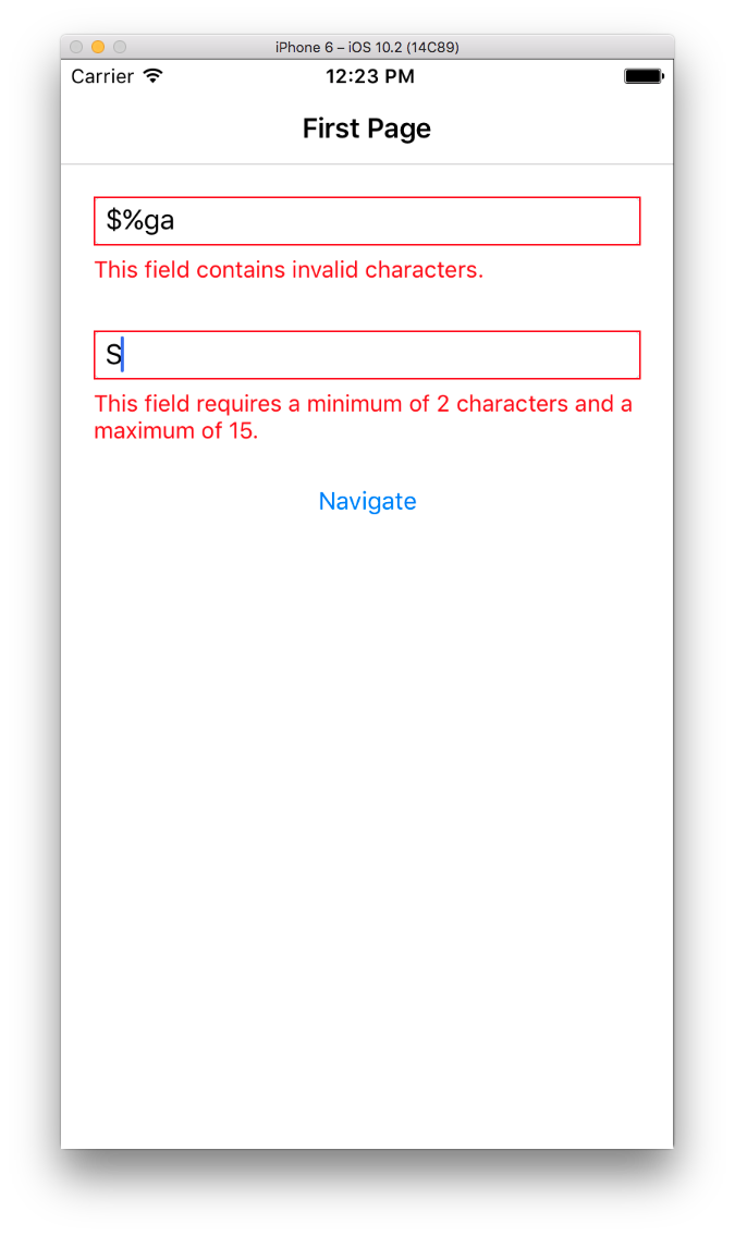 Validating User Input in Xamarin.Forms IV