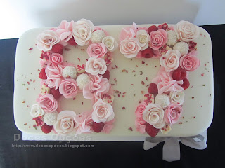 cake sugar paste flowers number