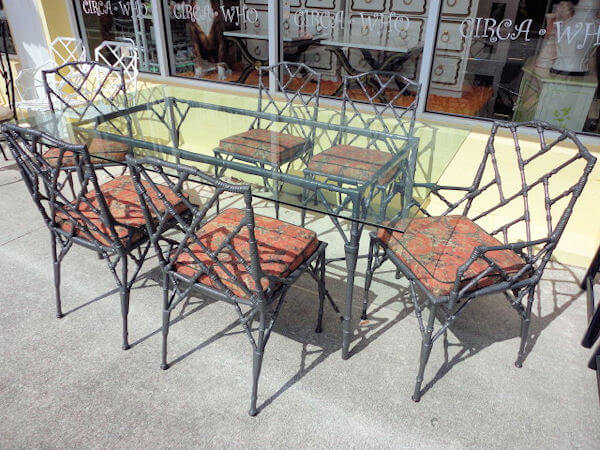 Faux Fake Imitation Or Bamboo Look Outdoor Patio Furniture From Metal