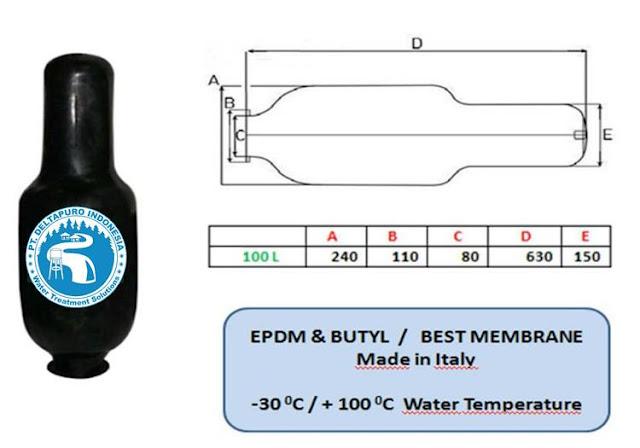Karet Membrane Pressure Tank 100 Liter