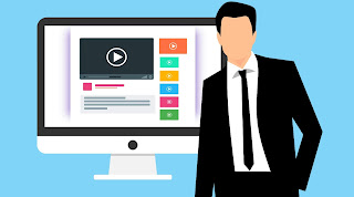 Depiction of video used in a website for video marketing.