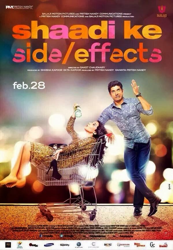 Vidya Balan, Farhan Akhtar in official poster of Shadi Ke Side Effects movie