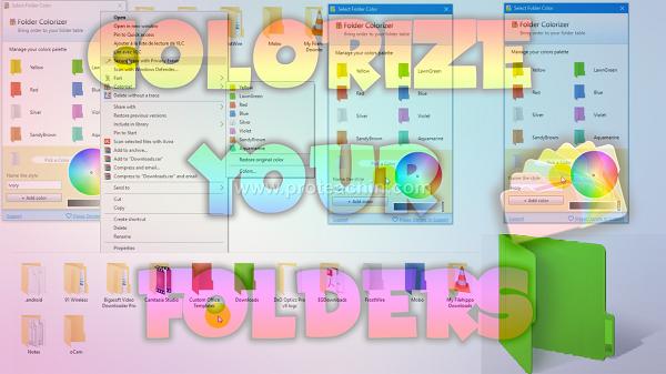أفضل برنامج لتغيير ألوان الملفات وتلوين الملفات بجميع الألوان مع التفعيل Folder Colorizer