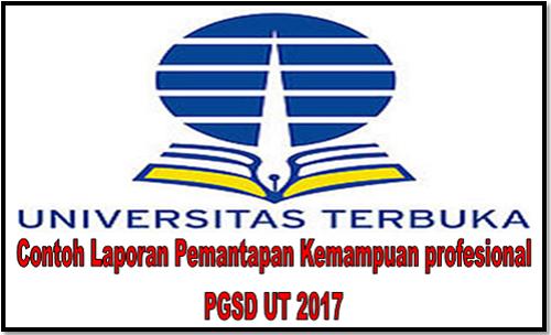 Contoh Laporan Pemantapan Kemampuan Profesional PGSD UT 2017