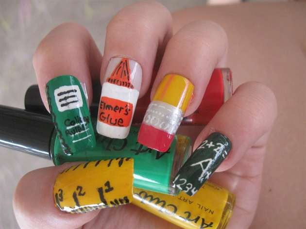 Back to School Nail Art Designs : Let's Celebrate!