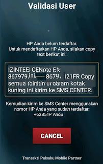 Aplikasi Transaksi Pulsaku Mobile Partner