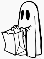 Happy Halloween Ghost Costume Coloring Pages
