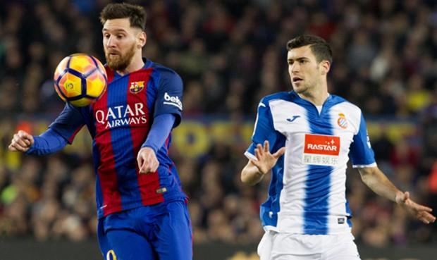 Barcelona masacró 4-1 al Espanyol con una extraordinaria actuación de Lionel Messi en la Liga
