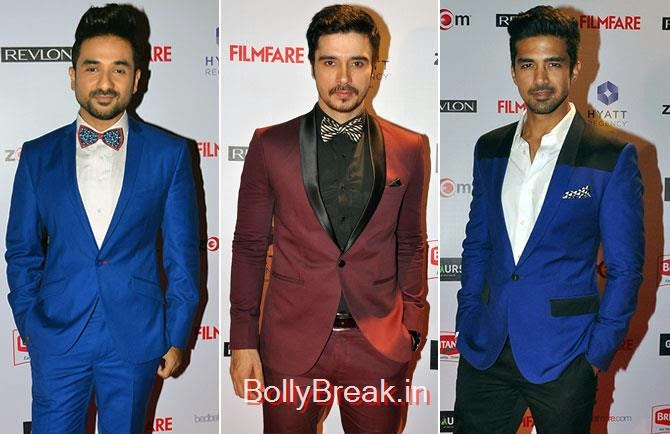 Vir Das, Darshan Kumaar,  Saqib Saleem, , Filmfare Awards 2015 Red Carpet Pics for Nominations Pre Party