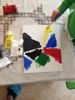 Art with kids- painting
