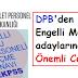DPB'den Engelli Memur adaylarına Önemli Cevaplar