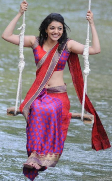 Kajal Agarwal Cute Wallpapers Kajal Agarwal Pink Saree Atoz Actress