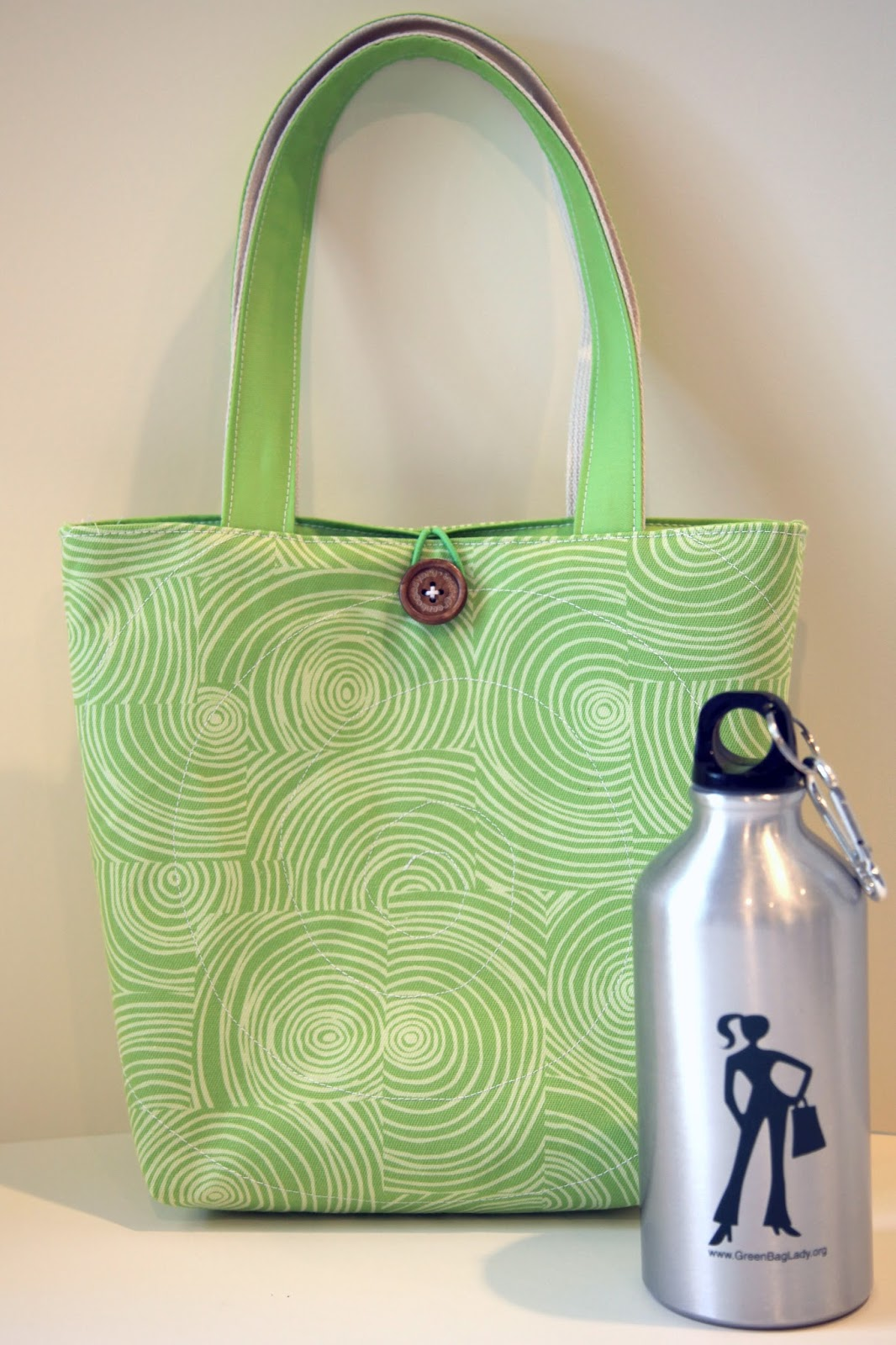 Green Bag Lady Quilted Lunch Tote Tutorial A Freebie