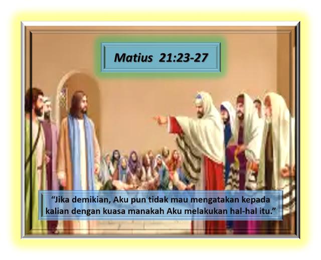 Matius 21:23-27