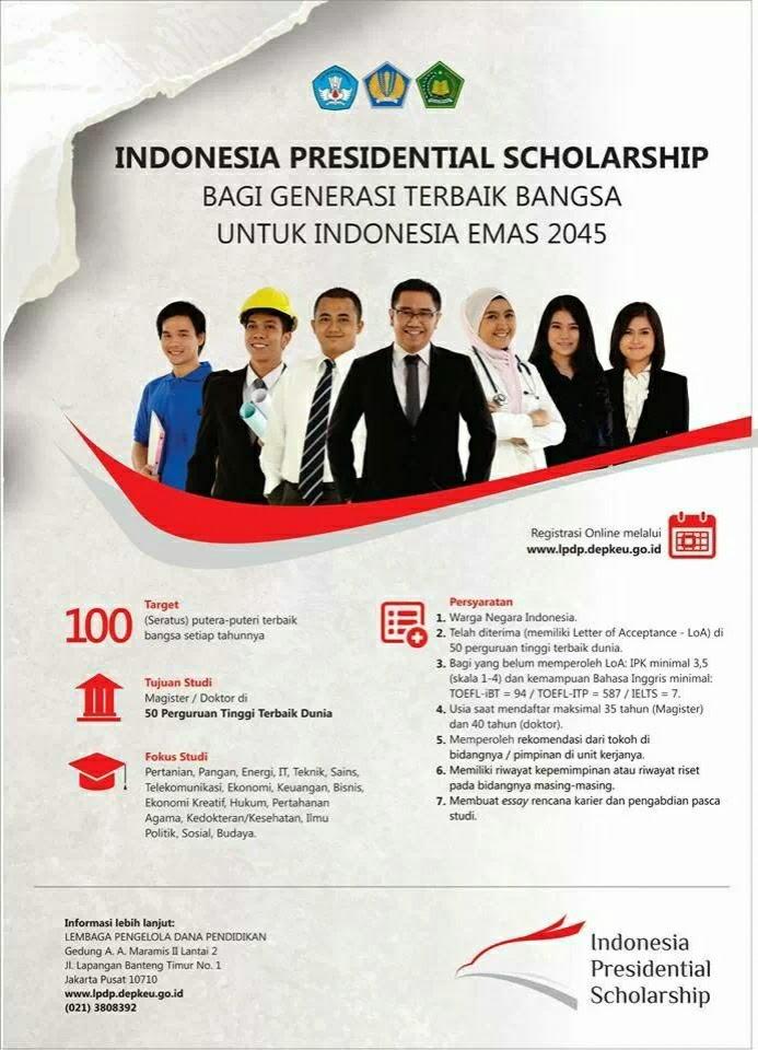 indonesia presidential scholarship lpdp
