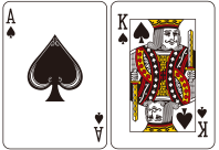 처음받는 두 장의 카드의 합이 21일 경우를 말한다. 베팅금액의 1.5배의 Pay를 하게 된다.