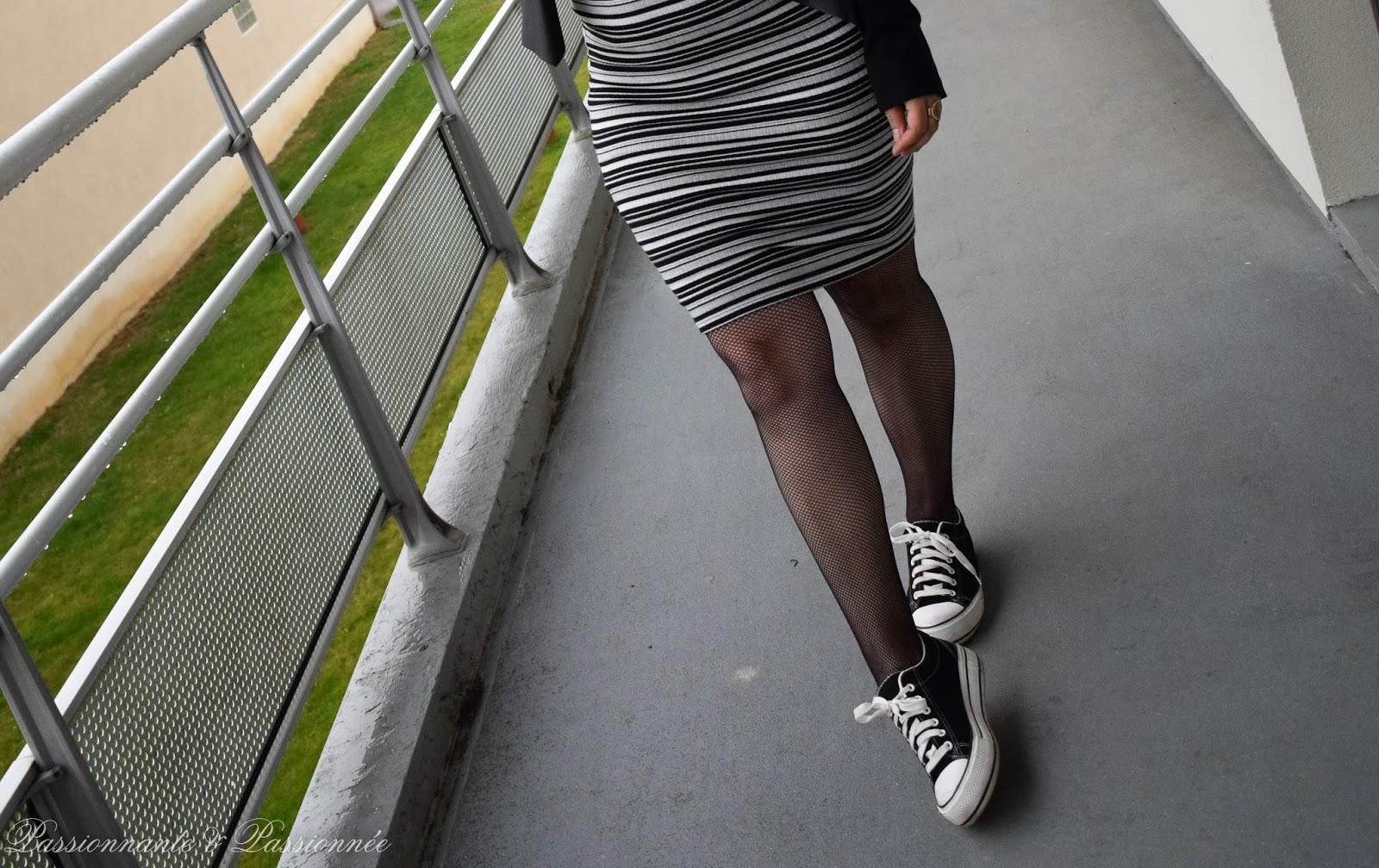 porter la jupe rayé