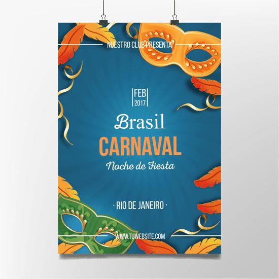 Cartel colgante Carnaval Brasil Rio de Janeiro