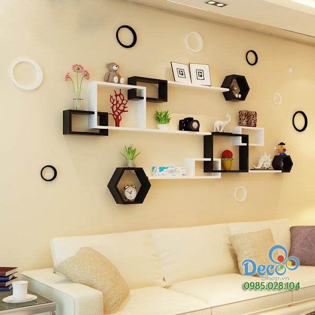 Kệ gỗ treo tường Deco KH50