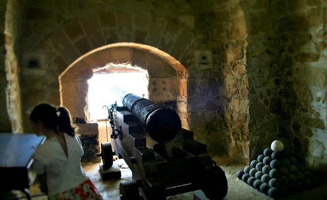 cannone, castello, difesa