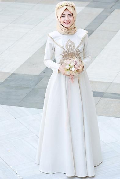 10 Contoh Gaun Pengantin Muslimah Simple Tapi Elegan Galeri Kitab