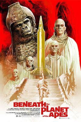 San Diego Comic-Con 2018 Exclusive Beneath the Planet of the Apes Movie Poster Screen Print by Eric Powell x Mondo