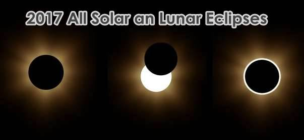 2017 All Solar an Lunar Eclipses From 1 Jan 2017 To 31 Dec 2017