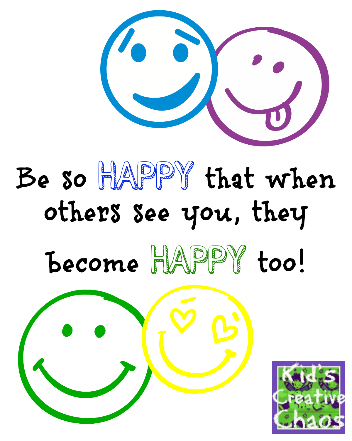 Quotes On Happiness Be Happy Happiness Quotes And Sayings  Kids Creative Chaos