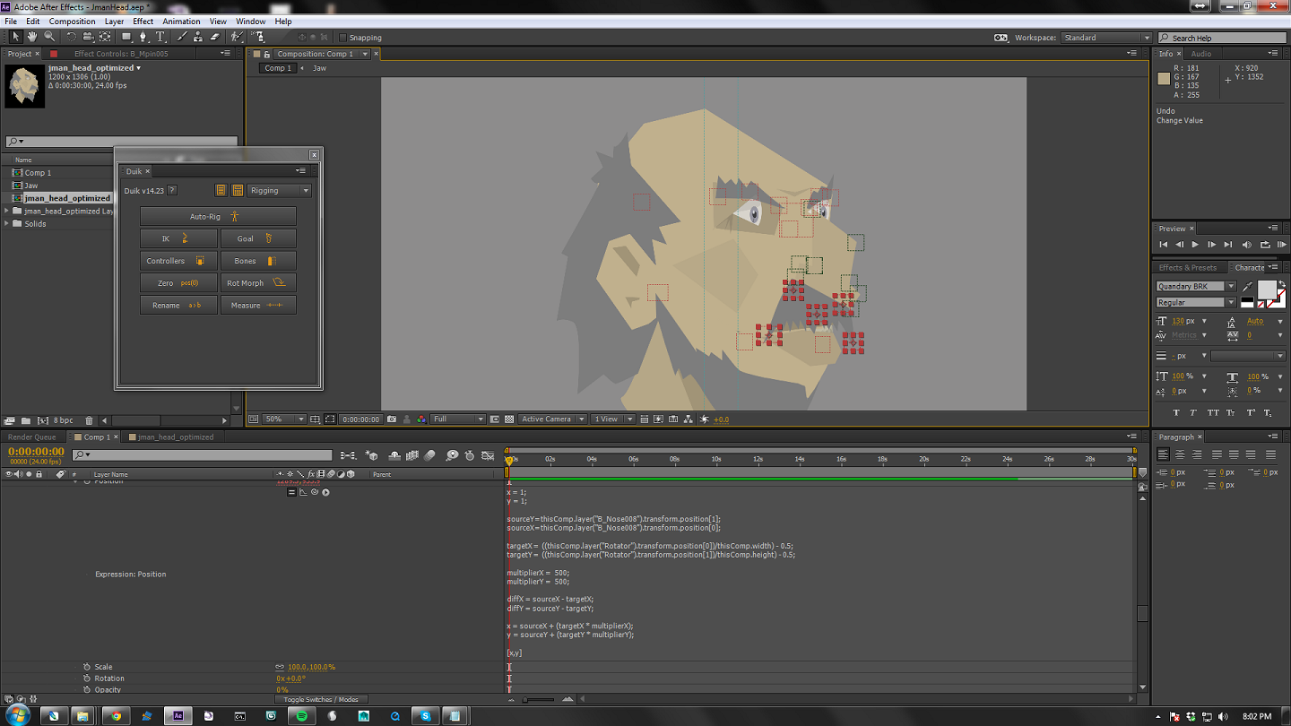 The Wizard's Blog: Making a Face Rotate in After Effects