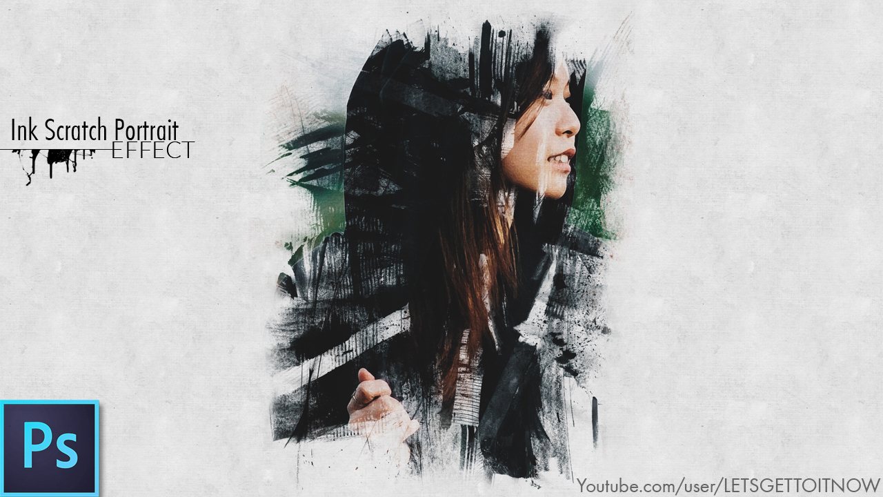 Free photoshop tutorials ink scratch portrait effect photoshop tutorial baditri Choice Image