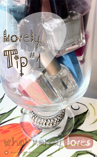 Lovely Tip #1: Nail Polish Display via www.whatmandyloves.com