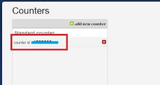 klik counter yang sudah dibuat