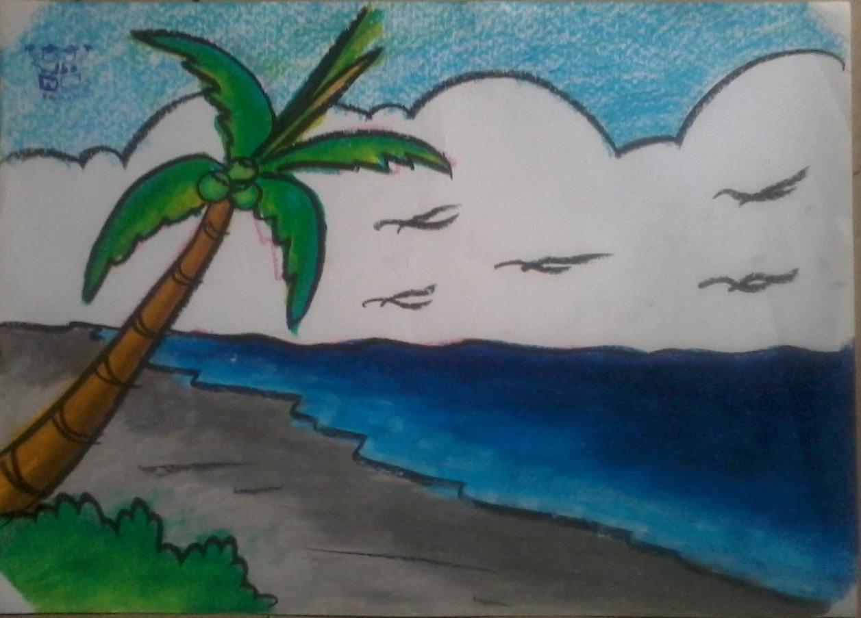 Menggambar Dan Mewarnai Crayon Tema Pantai Sanggar Acc Anak