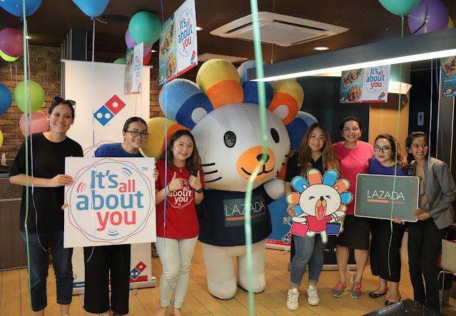 Domino's Pizza Anjur Sambutan Ulang Tahun  Ke-7 untuk Lazada  Tawarkan Promosi Bersama Eksklusif untuk Pelanggan