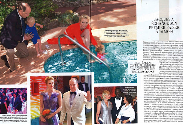 Prince Albert, Princess Charlene, their twins Prince Jacques and Princess Gabriella were on this week's issue of French magazine Gala