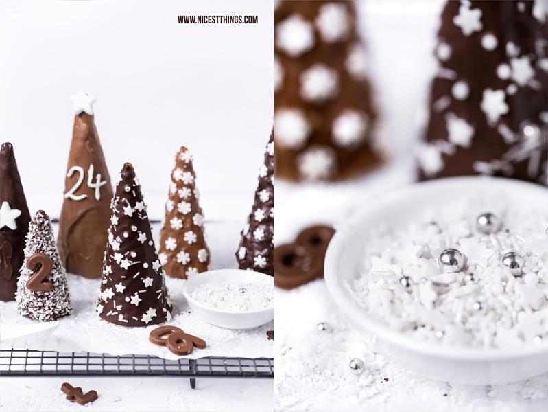 Eiswaffel Adventskalender WInterwald Tannenbäume mit Schokolade