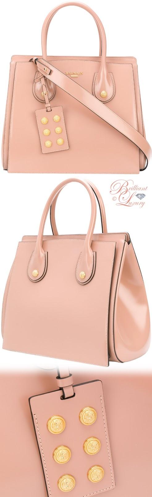 Brilliant Luxury ♦ Balmain top handle tote