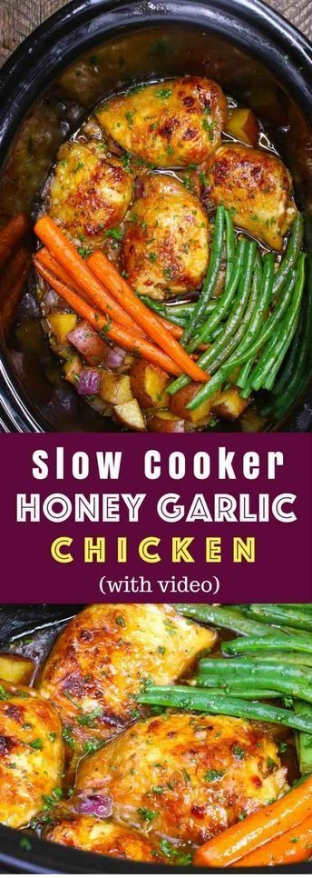 Slow Cooker Honey Garlic Chicken