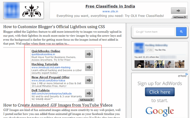 How to Show Ads Below First Post in Blogger