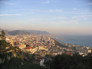 A panoramic view over the city of Salerno