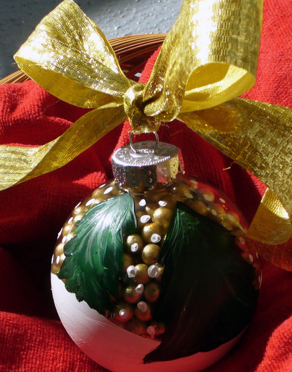 (Bob Ross Inspired) DIY – Hand Painted Christmas Ornaments