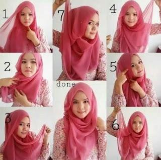 cara memakai hijab terbaru simpel
