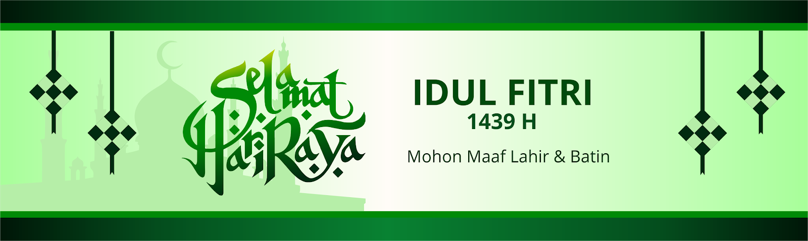 contoh banner idul fitri cdr