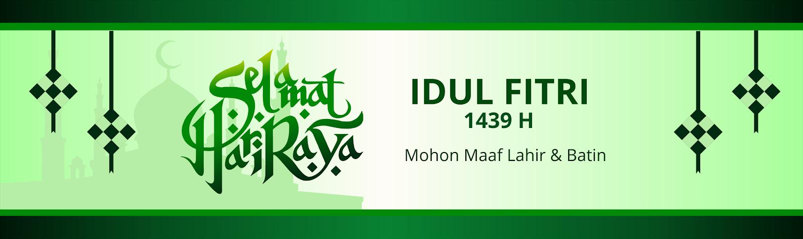 Download Desain Banner Lebaran Idul Fitri Tahun Masehi Format Cdr Free