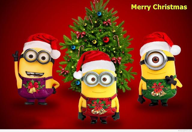 merry christmas minions funny hd image wallpaper